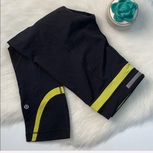 Lululemon | inspire crop pant in black and yellow